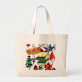 flowers and plants canvas bag