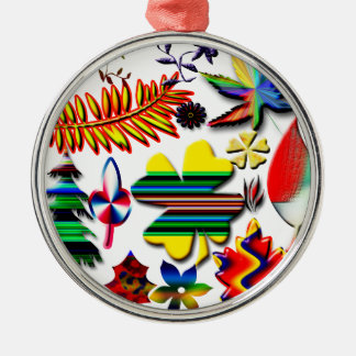flowers and plants christmas ornament