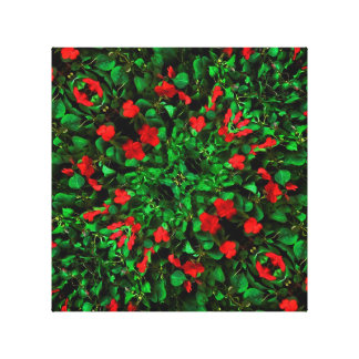 Flowers and Plants Pattern Gallery Wrap Canvas