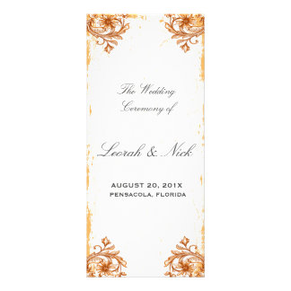 Flowers and scroll full color rack card