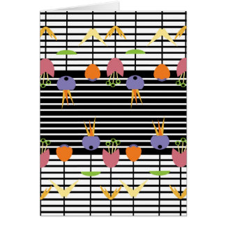 Flowers and Stripes Card