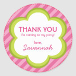 Flowers and Stripes Thank You Sticker