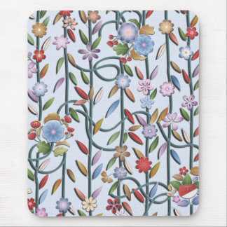 Flowers and vines mouse pad