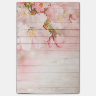 Flowers and Wood Grain Post-it Notes