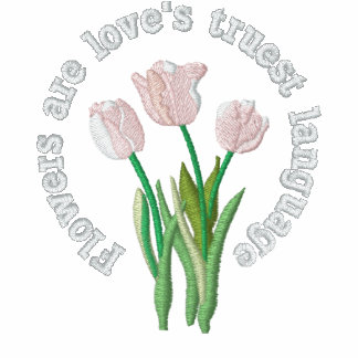 Flowers are love's truest language embroidered hooded sweatshirt