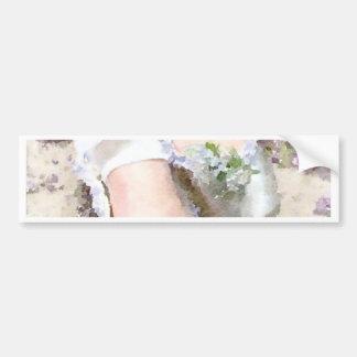 Flowers at her Feet Bumper Sticker