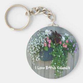 Flowers at the Boathouse II Basic Round Button Key Ring