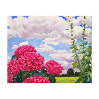 Flowers at the edge of a meadow 2008 canvas print