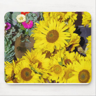 Flowers at the farmers market mousepads