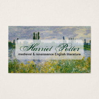 Flowers Banks of Seine Vetheuil Monet Fine Art Business Card