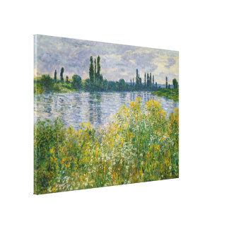 Flowers Banks of Seine Vetheuil Monet Fine Art Canvas Print