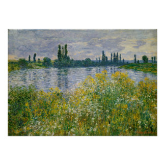 Flowers Banks of Seine Vetheuil Monet Fine Art Poster