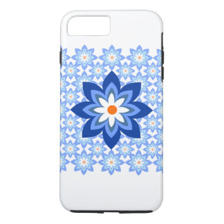 Flowers Batik Blue iPhone 7 Plus Case