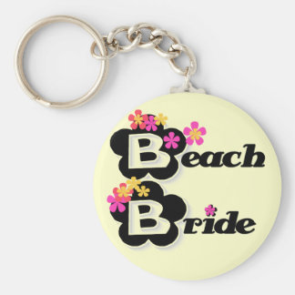 Flowers Beach Bride T-shirts and Gifts Keychains