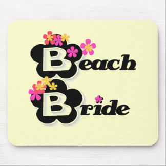 Flowers Beach Bride T-shirts and Gifts Mouse Pads