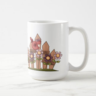 Flowers & Bird Classic White Mug