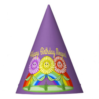Flowers Birthday Hat (Customizable)