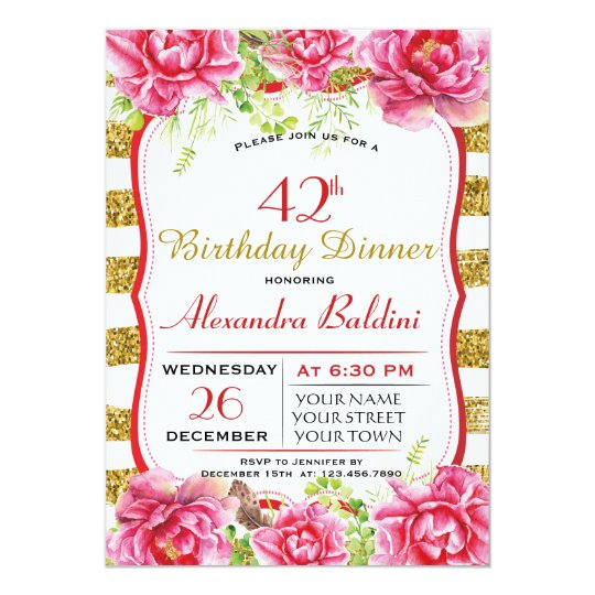 FLOWERS  BIRTHDAY PARTY INVITATION