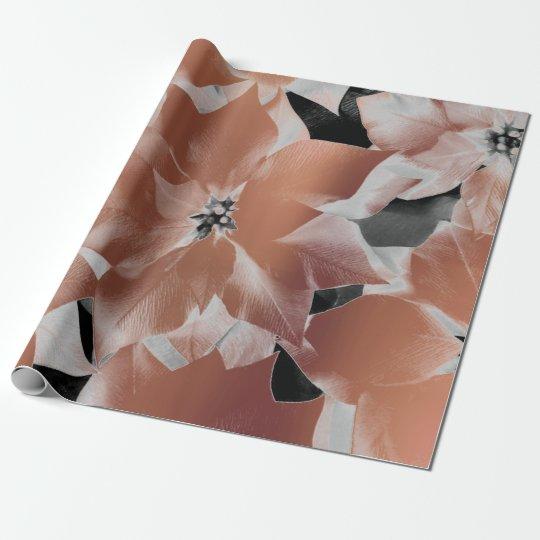 Flowers Black White Copper Coral Metallic VIP Leaf