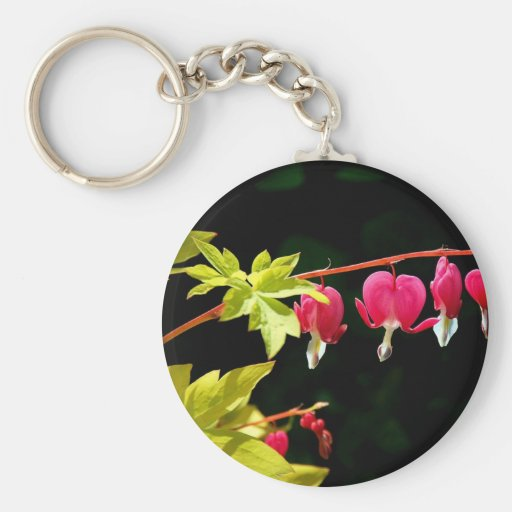 Flowers :-) Bleeding hearts Keychain