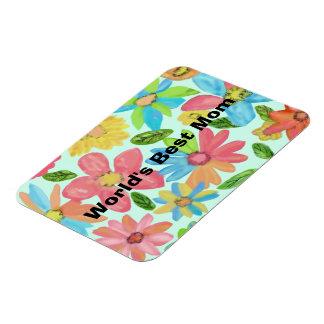 Flowers Bloom Best Mom Premium Magnet