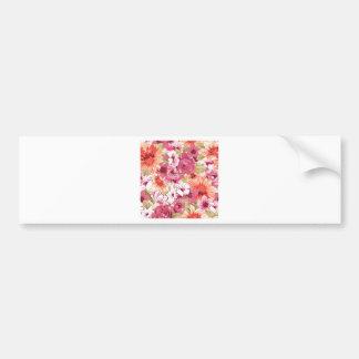 Flowers bloom bumper sticker