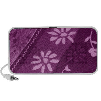 Flowers Blossoms Vines Purple Pink Shower Party Mp3 Speaker