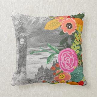 Flowers bouquet throw pillow