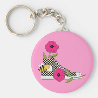 Flowers Bugs Sneakers All Products Kids Stuff Basic Round Button Key Ring