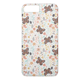 Flowers Butterflies And Bees iPhone 7 Plus Case