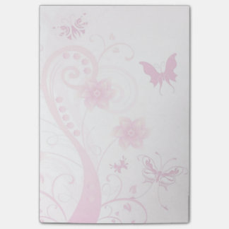 Flowers, Butterflies and Swirls Post-it Notes