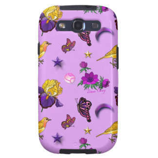 Flowers & Butterflies - Birds & Stars Galaxy SIII Covers