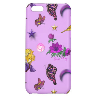 Flowers & Butterflies - Birds & Stars Cover For iPhone 5C
