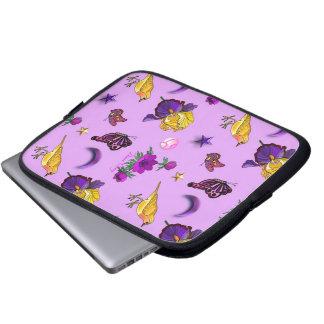 Flowers Butterflies - Birds Stars Laptop Sleeves