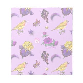 Flowers & Butterflies - Birds & Stars Note Pads