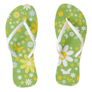 Flowers & Butterflies Flip Flops