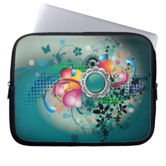 Flowers & Butterflies Laptop Sleeve