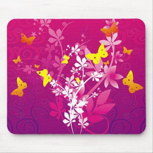 Flowers & Butterflies Mouse Mat