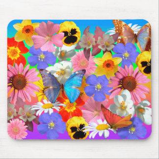 flowers & butterflies mousepad