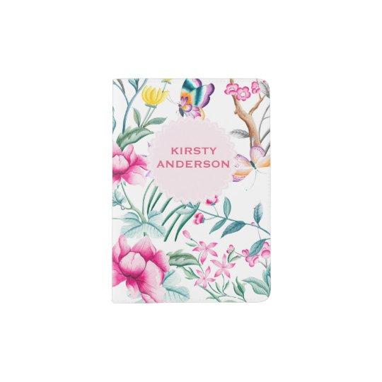 Flowers & Butterflies Personalised Passport Holder
