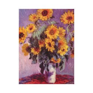 Flowers by Claude Monet Canvas Print