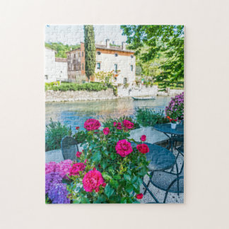 Flowers by the river photo puzzle