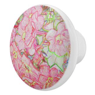 Flowers Ceramic Knob