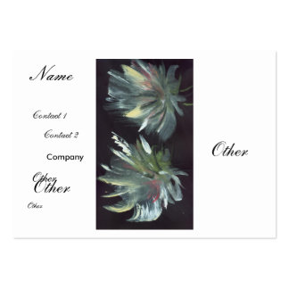 Flowers chunky business cards