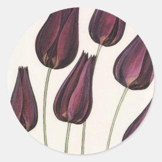 Flowers Classic Round Sticker