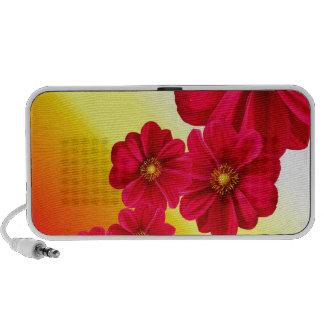Flowers Colorful Pattern Spring Garden Dahlia Art Mini Speakers