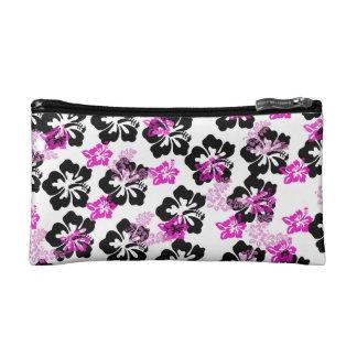 Flowers Cream Cosmetics Bags