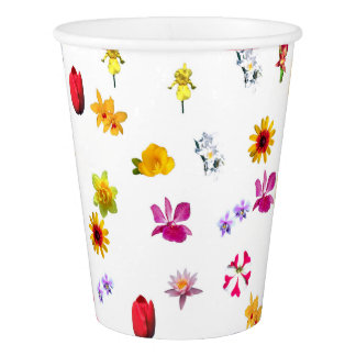 Flowers Custom Paper Cup, 9 oz Paper Cup