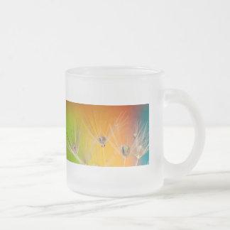 Flowers Dandelion Wedding Shower Love Painting 10 Oz Frosted Glass Coffee Mug