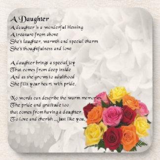 Flowers - Daughter Poem Coaster